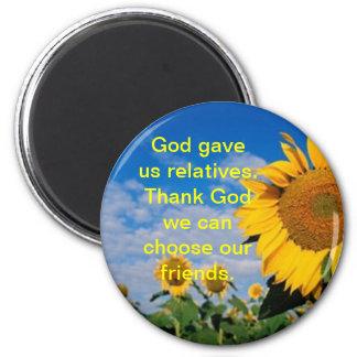 Friends/Sunflower Magnet