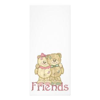 Friends Teddy Bear Pair - Original Colors Custom Rack Cards