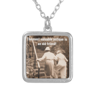 Friends till the End Square Pendant Necklace