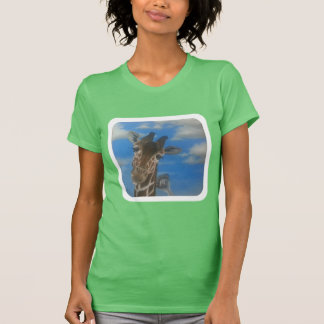 Friends- to giraffe and an ostrich. T-Shirt