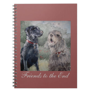 Friends to the End. Black Labrador & Otterhound Note Books