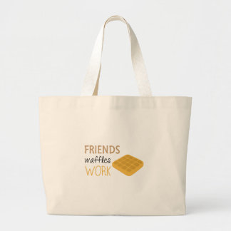 Friends Waffles Work Large Tote Bag
