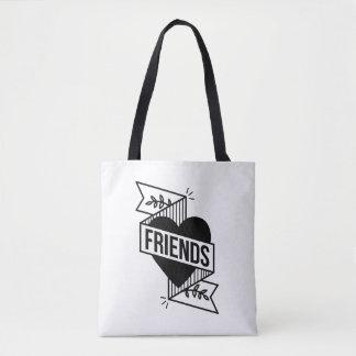 FRIENDS WHITE TOTE BAG
