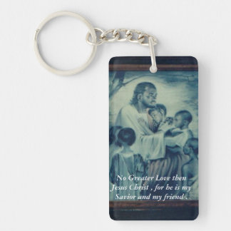 Friends with Jesus Double-Sided Rectangular Acrylic Key Ring