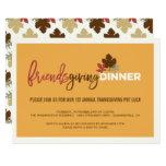 Friendsgiving Pot Luck Thanksgiving Dinner Invite