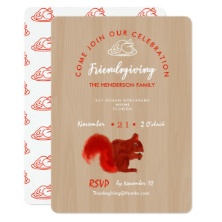 Friendsgiving Thankful Celebration Rustic Card
