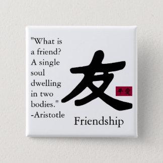 Friendship 1 15 cm square badge