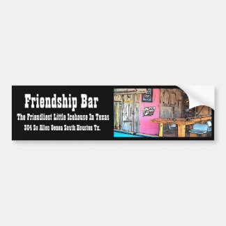Friendship Bar Bumper Sticker