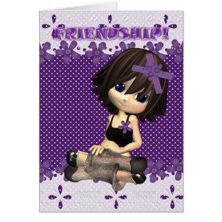 Friendship Card Moonies cutie pie dottie