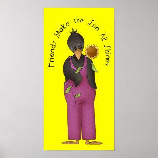 Friendship Crow Poster