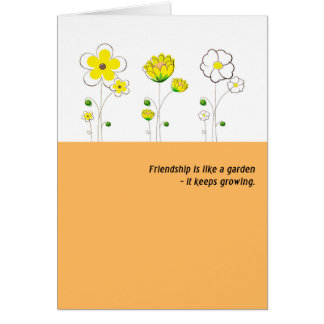 Friendship flowers card