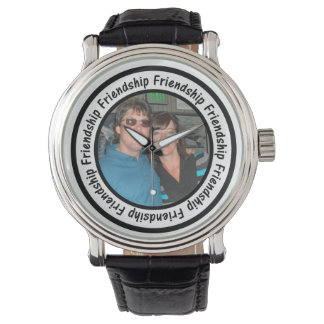 Friendship Frame Circle Add Your Photo Wristwatches