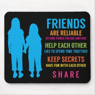Friendship Friend BFF Girlfriends Best Friends Mouse Pads