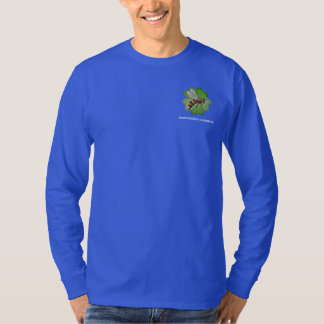 Friendship Gardens Logo- Blue Long T-shirt