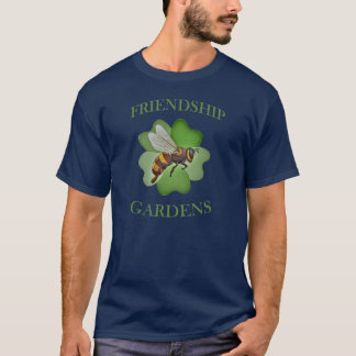 Friendship Gardens Logo T-shirt-Navy Blue T-Shirt