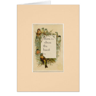 Friendship Greeting Card Home is Where the Heart