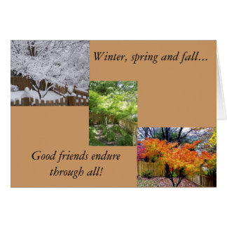Friendship in all seasons card