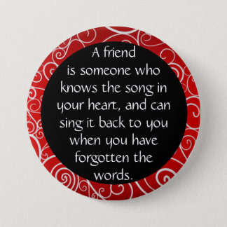 Friendship is... 7.5 cm round badge