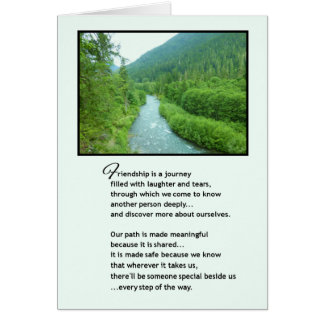 Friendship is a journey... greeting card