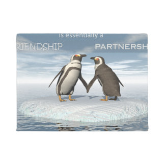 Friendship is essentailly a partnership doormat