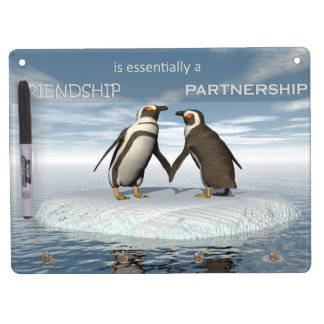 Friendship is essentailly a partnership dry erase board with key ring holder