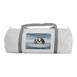 Friendship is essentailly a partnership gym duffel bag