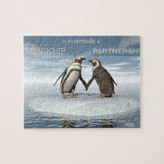 Friendship is essentailly a partnership jigsaw puzzle