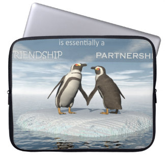 Friendship is essentailly a partnership laptop sleeve