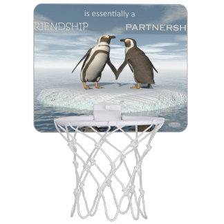 Friendship is essentailly a partnership mini basketball hoop