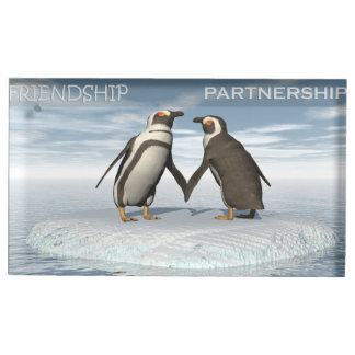 Friendship is essentailly a partnership table card holder