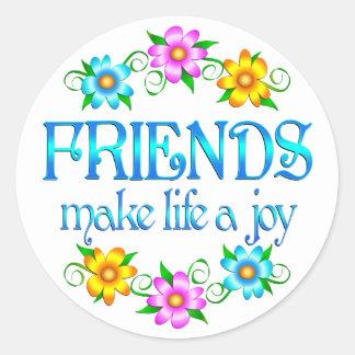 Friendship Joy Classic Round Sticker