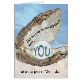 Friendship, Love, Thanks, You are the Pearl Card