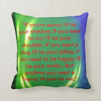 friendship message cushion