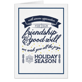 Friendship Navy Card