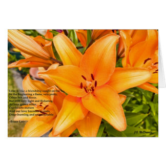 Friendship on Fire Greeting Card