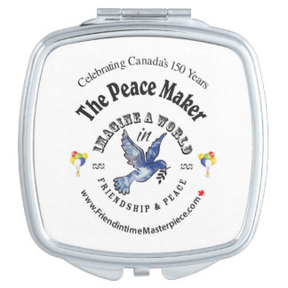 Friendship & Peace Travel Mirror
