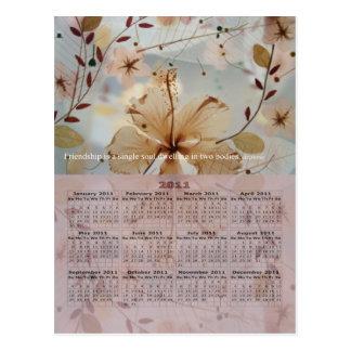 Friendship Petals 2011 Postcard Calendar