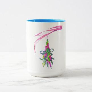 Friendship Plant  Blue 15 oz Two-Tone Mug (1 of 4)
