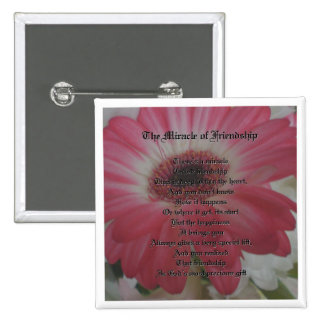 Friendship Poem 15 Cm Square Badge