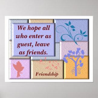 Friendship _ poster print