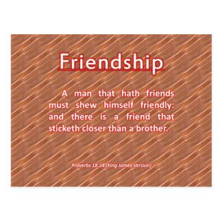 Friendship Proverbs 18:24 Postcard
