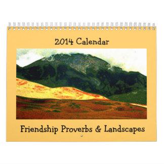 friendship proverbs with landscape art wall calendars