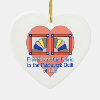 Friendship Quilt Ceramic Ornament