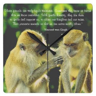 Friendship Quote by Vincent van Gogh Clock