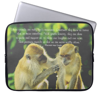 Friendship Quote by Vincent van Gogh Laptop Sleeve
