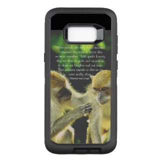Friendship Quote by Vincent van Gogh OtterBox Defender Samsung Galaxy S8+ Case
