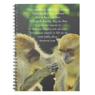 Friendship Quote by Vincent van Gogh Spiral Notebook