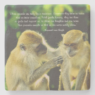 Friendship Quote by Vincent van Gogh Stone Coaster