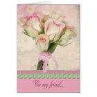 Friendship Rose Bouquet Card