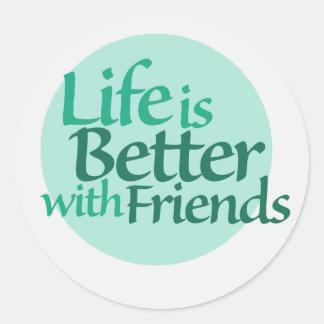 Friendship Round Sticker